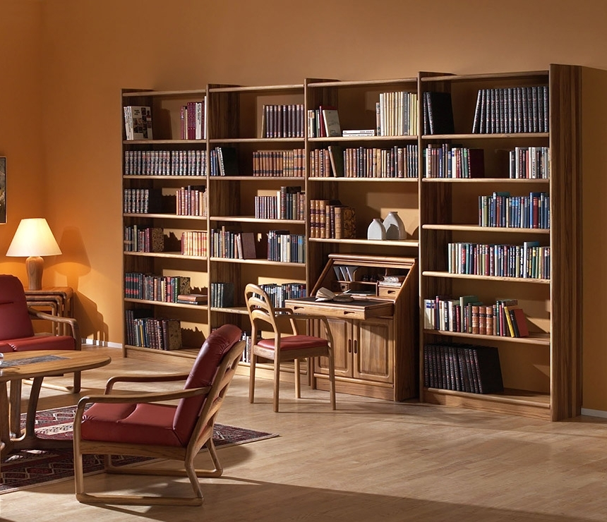 Recent Large Solid Wood Bookcases Intended For Store Your Fantasies And Reality In Wooden Bookshelf (View 2 of 15)