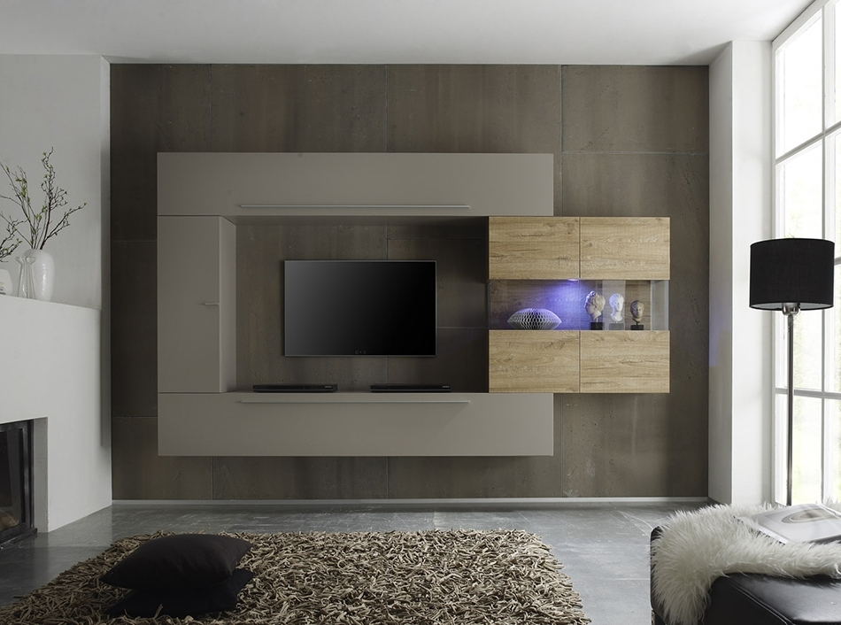 Recent Modern Wall Units In Lc Mobili Modern Wall Unit Line 2 – $1, (View 10 of 15)