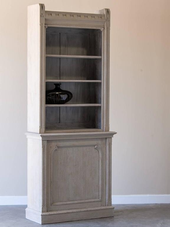 Recent Shallow Antique English Painted Oak Display Cabinet Bookcase With Painted Oak Bookcases (View 10 of 15)