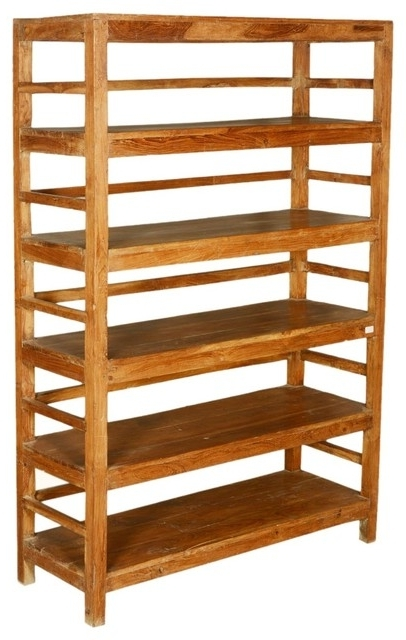 Recent Sierra Living Concepts – Country Reclaimed Wood Freestanding 5 For Freestanding Bookcases (View 12 of 15)