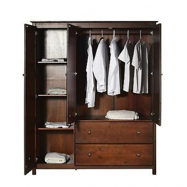 Recent Solid Wood Wardrobes Closets With Solid Wood Wardrobe Closet Solid Wood Wardrobe Closet Armoire (View 9 of 15)