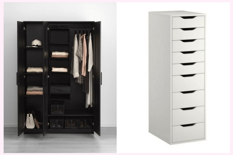 Recent Wardrobe With Drawers And Shelves With Upgrading Brimnes Wardrobe With Drawer Units – Ikea Hackers (View 7 of 15)