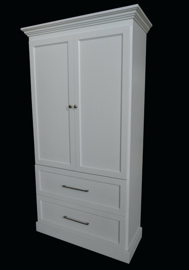 Recent White Wardrobes Armoire Intended For Wardrobes ~ White Wardrobe Armoire Ikea Clarice Wardrobe Cabinet (View 8 of 15)