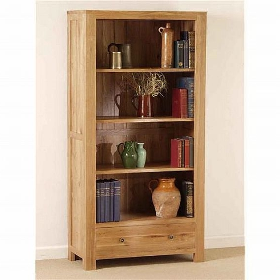 Recent Wooden Bookcases Throughout Custom Solid Oak Wood Bookcase (View 14 of 15)
