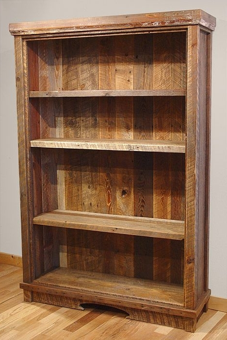 Reclaimed Wood Bookcase (View 6 of 15)