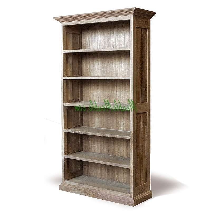 Reclaimed Wood Bookcases Inside 2017 Bookcase Recycled Teak And Reclaimed Wood Furniture Manufacturer (View 3 of 15)