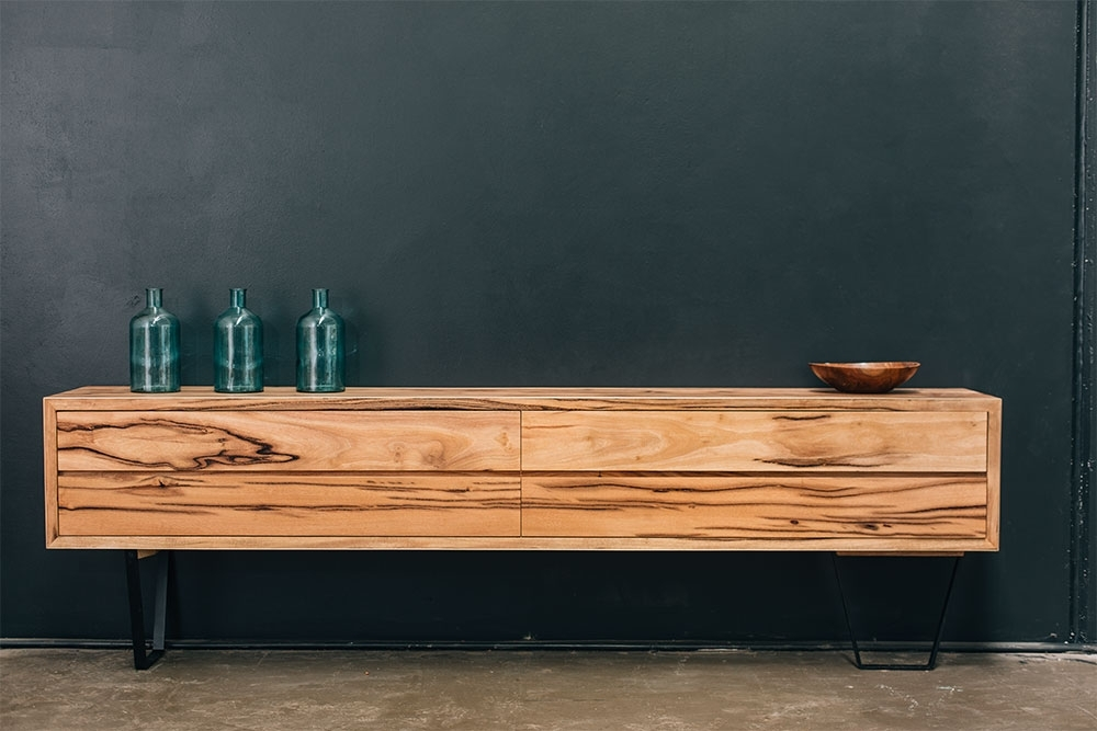 Retro Solid American Oak Tv Cabinet – Rust Furniture Australia Within Trendy Handmade Tv Unit (View 10 of 15)