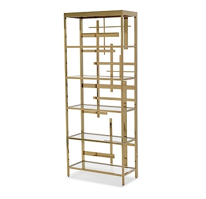 Richard Rabel With Preferred Gold Metal Bookcases (View 6 of 15)