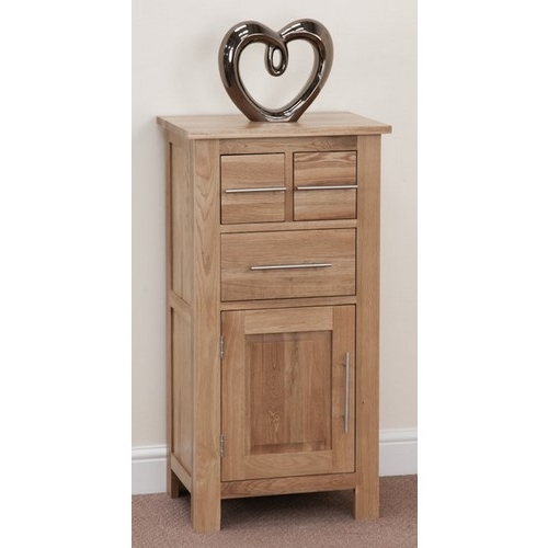 Rivermead Solid Oak Cupboard – Small Oak Cupboards Throughout Fashionable Small Oak Cupboard (View 11 of 15)