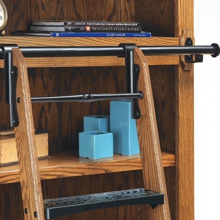 Rockler Vintage Black Rolling Library Ladder Hardware (View 12 of 15)