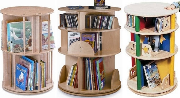 Rotating Bookcases Within Latest Kids Revolving Bookcase – Findabuy (View 11 of 15)