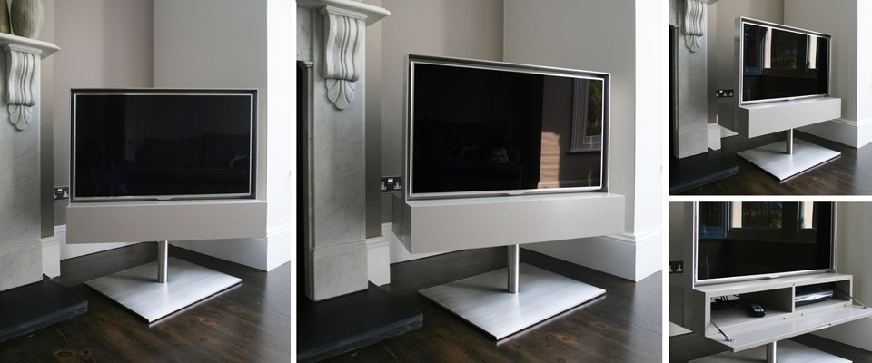 Rotating Tv Cabinets And Bespoke Tv Stands From Couture Furniture For Most Recently Released Bespoke Tv Stand (View 13 of 15)