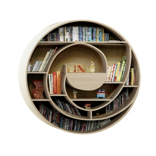 Round Bookcases Within Famous Round Cardboard Bookcase Bookcases Brown Mywebroom Eclectic (View 14 of 15)