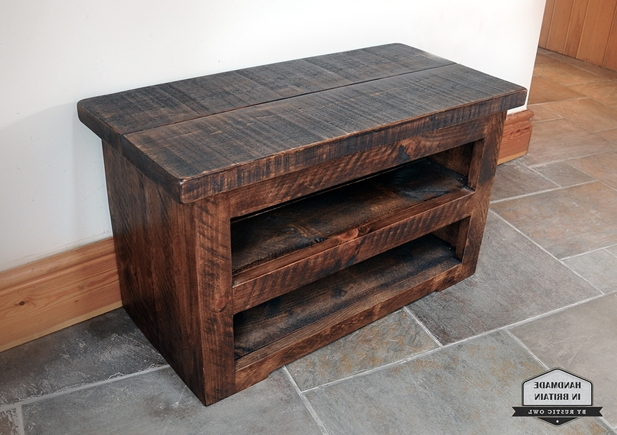 Rustic Owl Regarding Most Current Handmade Tv Unit (View 11 of 15)