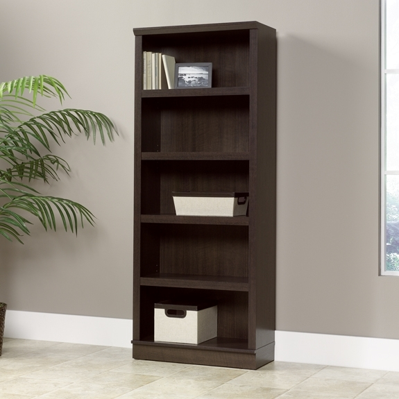 Sauder 5 Shelf Bookcases Throughout Current Sauder Home Plus Dakota Oak 5 Shelf Bookcase  (View 11 of 15)