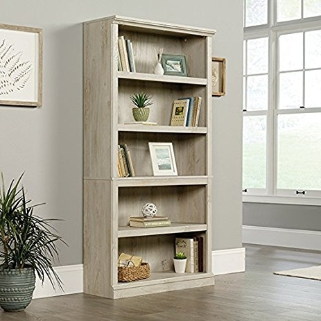 Sauder 5 Shelf Bookcases With Regard To Most Popular Amazon: Sauder 5 Shelf Bookcase In Chalked Chestnut: Kitchen (View 14 of 15)