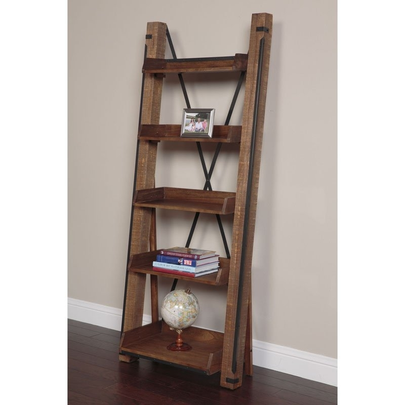 Sauder Barrister Lane Tall Bookcase – Scribed Oak (View 8 of 15)