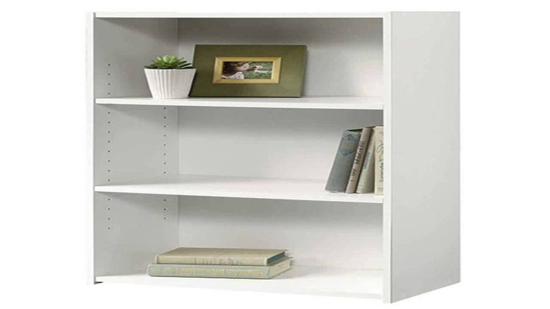 Sauder Beginnings 3 Shelf Bookcase Soft White Or Corner Unit Throughout Popular Sauder Beginnings 3 Shelf Bookcases (View 10 of 15)