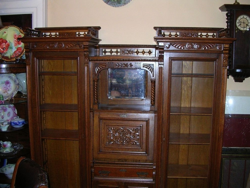 Secretary Bookcases With Regard To Most Popular Fabulous Antique Double Secretary Desk Sideside Quartersawn (View 4 of 15)