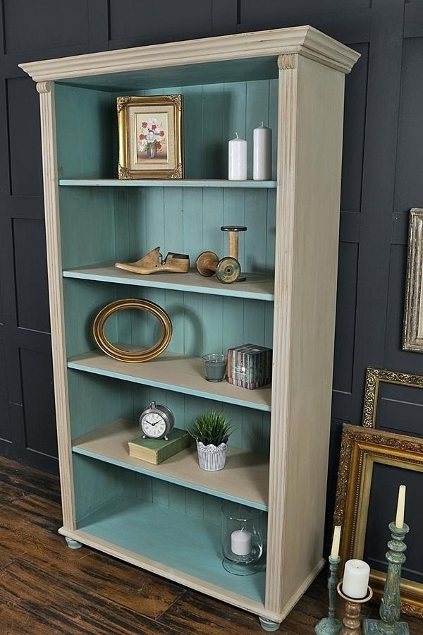 Shabby Chic Bookcases For Most Recently Released Shabby Chic Bookshelves How To Paint A Shabby Chic Bookcase With (View 11 of 15)