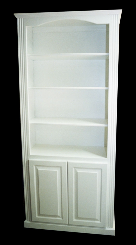 Shelves & Display: White Bookcase « Ebben Custom Cabinets & Furniture With Regard To Fashionable White Bookcases With Cupboard (View 11 of 15)