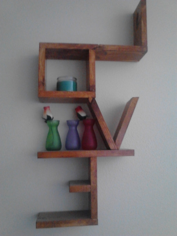 Shelves, Etsy And Craft For Recent Handmade Wooden Shelves (View 12 of 15)