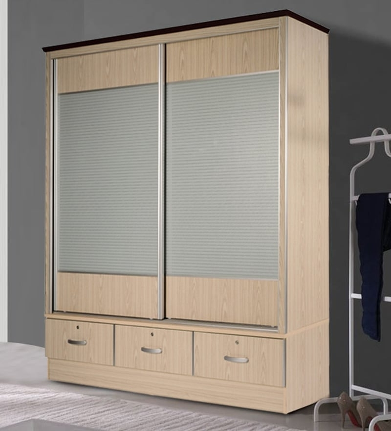 Sliding Door Wardrobes For Most Recently Released Buy Wardrobe With Sliding Doors In Wenge Finishessance Online (View 9 of 15)
