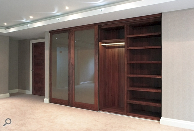 Sliding Wardrobe Doors Throughout Most Popular Solid Dark Wood Wardrobes (View 7 of 15)