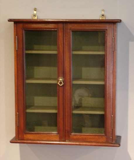 Small Antique Glazed Wall Cabinet : Antique Wall Cupboard Uk With Regard To  Newest Wall Cupboards