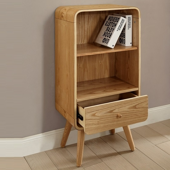 Small Bookcases With Regard To Popular Maine 2 Shelf Half Width Deep Bookcase Bookcases For Spaces Small (View 12 of 15)