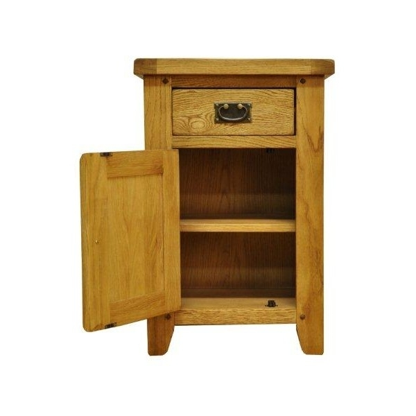 Small Oak Cupboard With Well Known Maison Salisbury Small Oak Cupboard With Drawer (View 13 of 15)