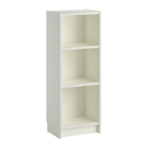 Small White Bookcases Throughout Famous Billy Bookcase – White – Ikea (View 3 of 15)