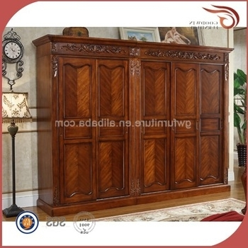 Solid Dark Wood Wardrobes With Regard To Most Up To Date Dark Cherry Antique Solid Wood Wardrobe A126 – Buy Antique Cherry (View 13 of 15)