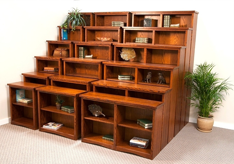 Solid Oak Bookcases Regarding Well Liked Solid Wood Bookcases » Furniture And Beds Of Oregon (View 10 of 15)