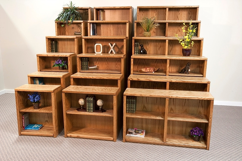 Solid Oak Bookcases Within Popular Solid Wood Bookcases » Furniture And Beds Of Oregon (View 11 of 15)