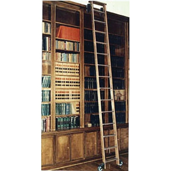 Solid Oak Rolling Library Ladders – Demco – Inside 2018 Library Ladder (View 13 of 15)