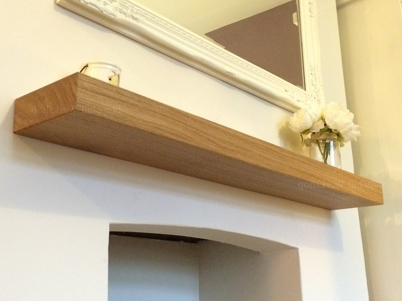 Solid Oak Shelves In 2017 Solid Oak Floating Mantle Shelf, Fireplace Mantel Shelves, Solid (View 10 of 15)