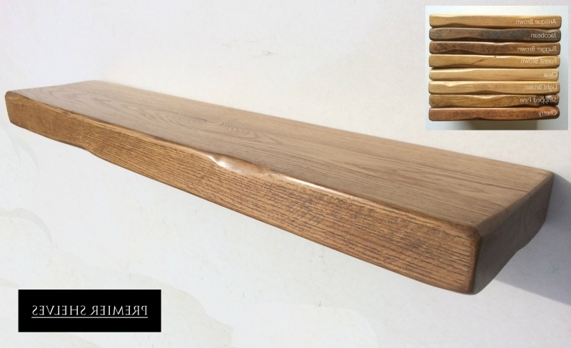 Solid Oak Shelves Within Preferred Rustic Solid Oak Shelf In Clear (View 11 of 15)