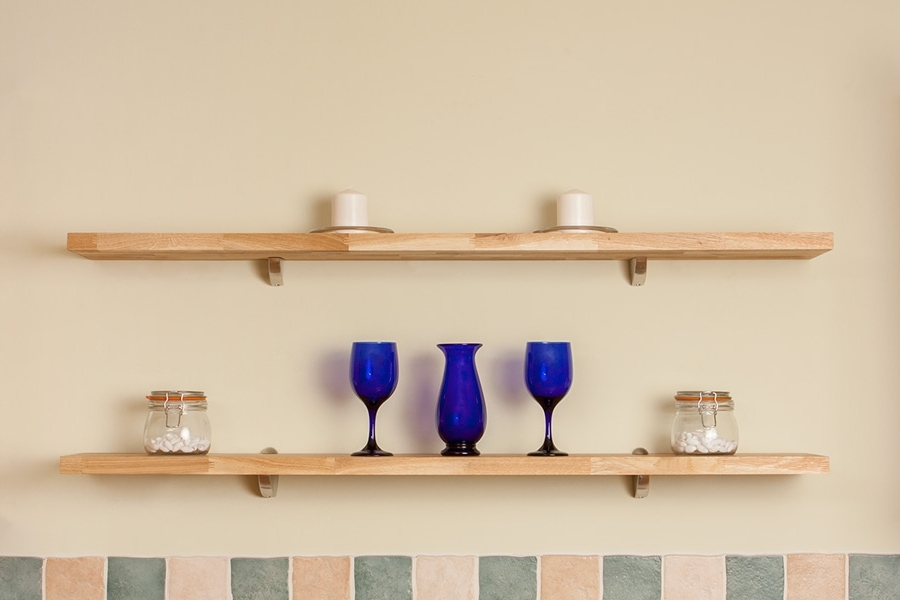 Solid Oak Wall Shelf 1500mm X 200mm X 27mm & Wall Mounted Oak Throughout Well Known Oak Wall Shelves (View 8 of 15)
