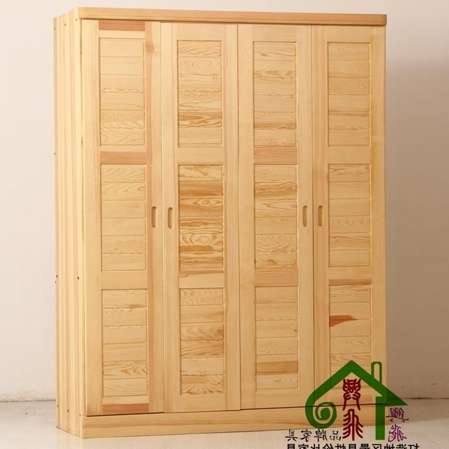 Solid Wood Wardrobes Closets For Most Popular Solid Wood Furniture Solid Wood Wardrobe Closet Wardrobe Sliding (View 10 of 15)
