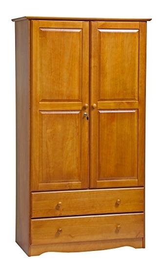 Solid Wood Wardrobes Closets Within Preferred Amazon: Palace Imports 5924 Smart Solid Wood Wardrobe/armoire (View 15 of 15)