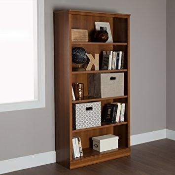 South Shore 5 Shelf Bookcases With Most Popular Amazon: South Shore Morgan 5 Shelf Bookcase, Morgan Cherry (View 11 of 15)