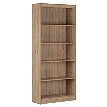 South Shore 5 Shelf Bookcases With Regard To Well Known Amazon: South Shore Axess 5 Shelf Bookcase, Country Pine (View 13 of 15)
