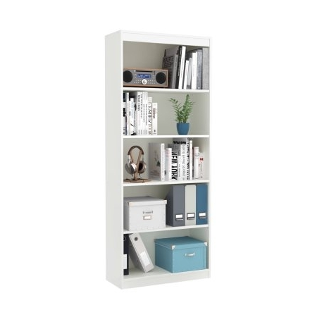 South Shore Smart Basics 5 Shelf Bookcase, Multiple Finishes – Balzano For Latest South Shore 5 Shelf Bookcases (View 14 of 15)