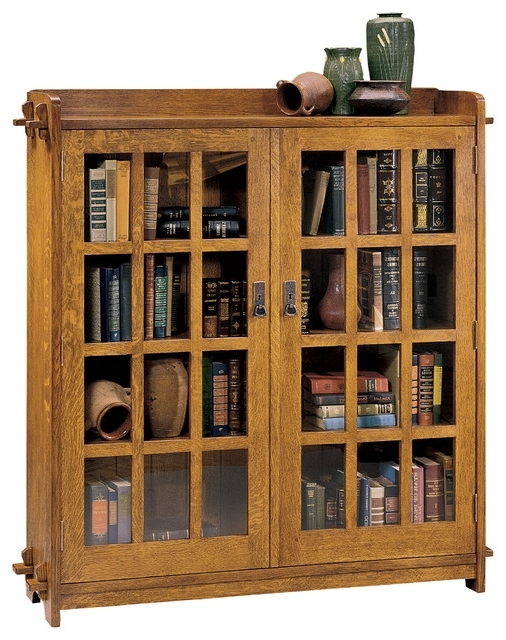 Stickley Bookcases Inside Most Up To Date Stickley Double Bookcase With Glass Doors 89 645 Bookshelves With (View 8 of 15)