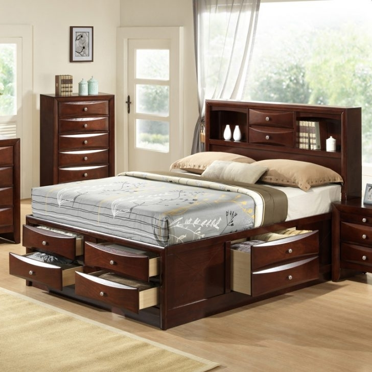 Storage Bed With Bookcases Headboard For Widely Used 12 Drawer King Storage Bed – Duque Inn (View 10 of 15)