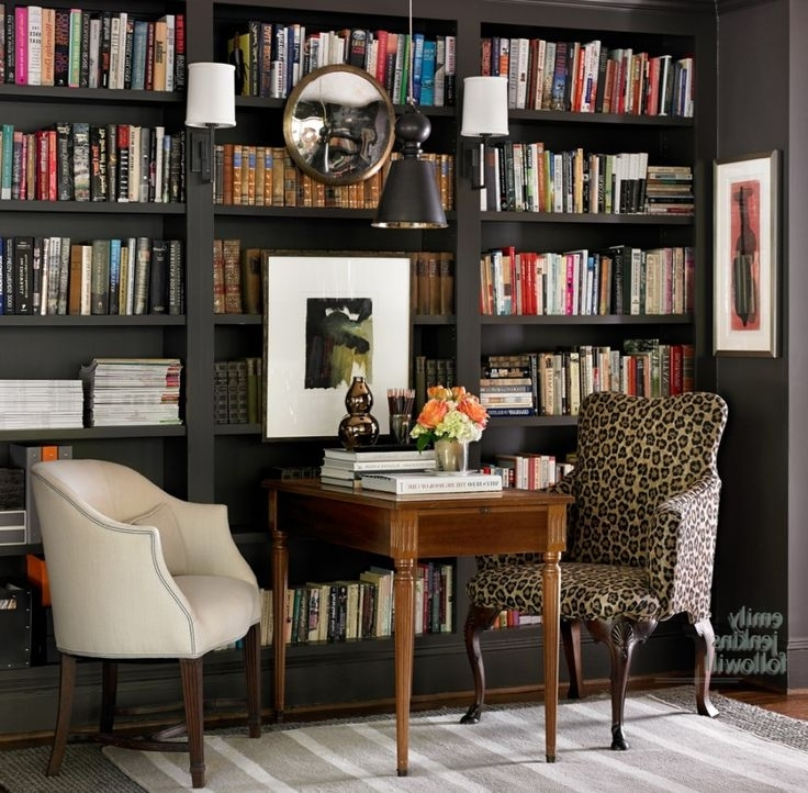 Study Bookshelves For Preferred 1740 Best Library Images On Pinterest (View 10 of 15)