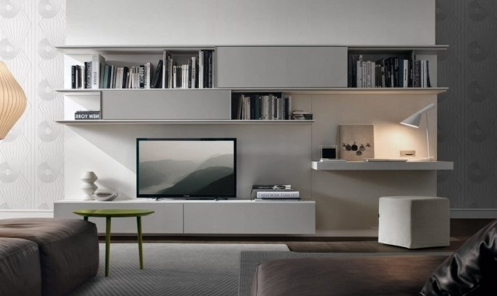 Study Wall Unit Designs In Well Known Marvelous Tv Bookcase Wall Unit Plans Bookshelf Stand Combo Gray (View 10 of 15)
