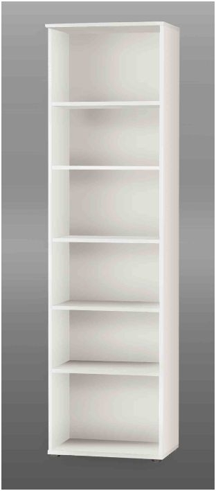 Tall Narrow Bookcases Regarding Popular Tempra White Tall Narrow Bookcase Bookshelf Furniture Kr02  (View 12 of 15)