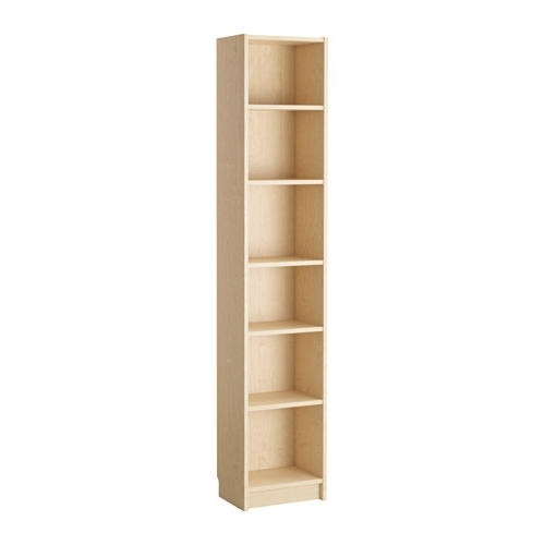 Tall Narrow Bookcases Within Most Current Billy Bookcase – Birch Veneer – Ikea (View 15 of 15)